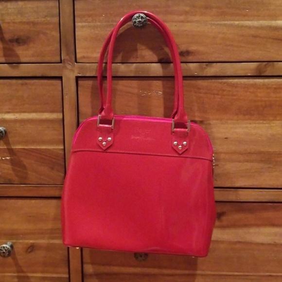 Beijo Handbags - Beijo red patent leather bag